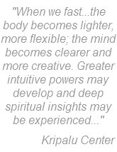 Kripalu Quote on Fasting