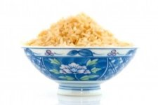 blue bowl of rice