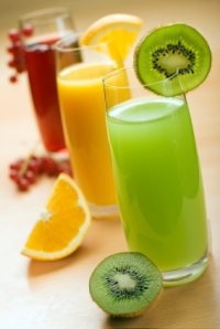3 glasses of fresh juice