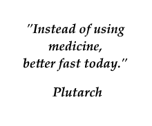 Plutarch quote on fasting