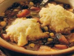 Southwestern Bean Soup with Cornmeal Dumplings