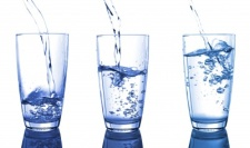 Glasses of water for fasting