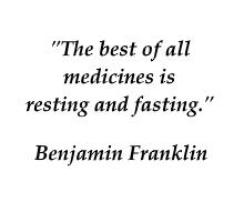 Benjamin Franklin quote on fasting
