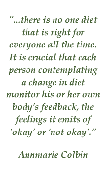Annemarie Colbin quote on diet
