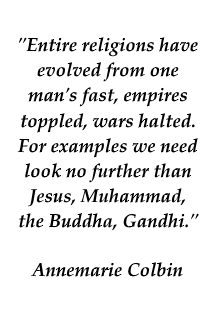 Colbin quote on the significance of fasting in history