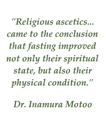 Motoo on effects of fasting