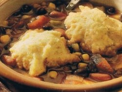 Southwestern Bean Soup with Cornmeal Dumplings