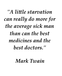 Mark Twain quote on fasting