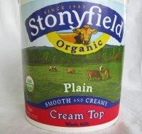 Stonyfield Yogurt Cream Top